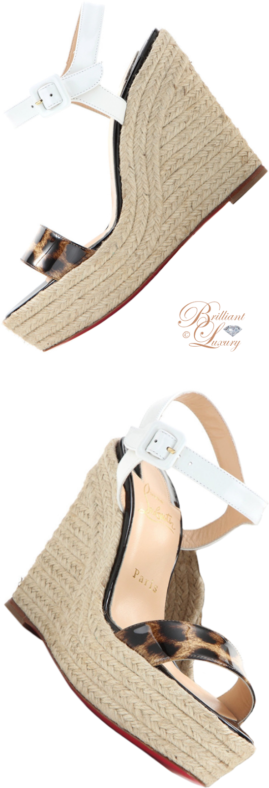 Brilliant Luxury ♦ Christian Louboutin Spachica wedge