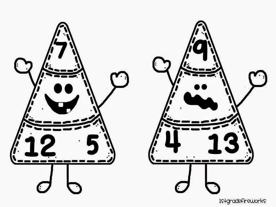 Candy Corn Fact Families B/W