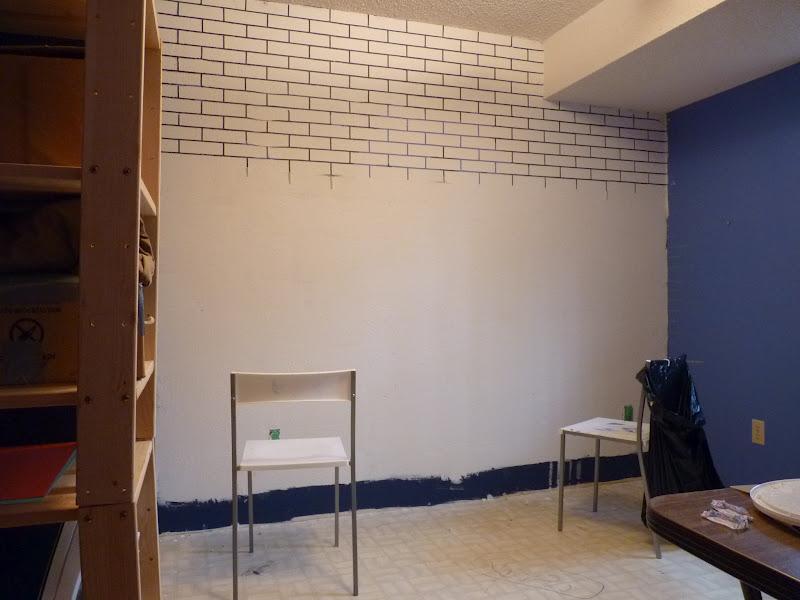 d i y d e s i g n: How To Make a Faux Exposed Brick Wall
