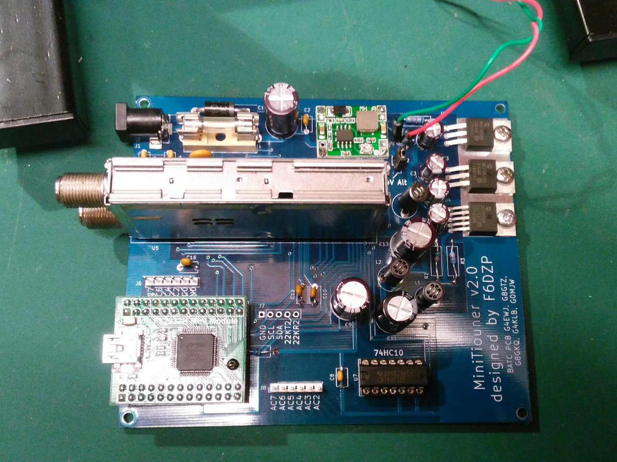 Minitiouner Datv Receiver Built Degree Electronics Forum Circuits Projects And Microcontrollers I Was Pleasantly Surprised To See A Large Of Protection On The Board Fuses Both Filament Poly Fuse Reverse Zener Diodes In