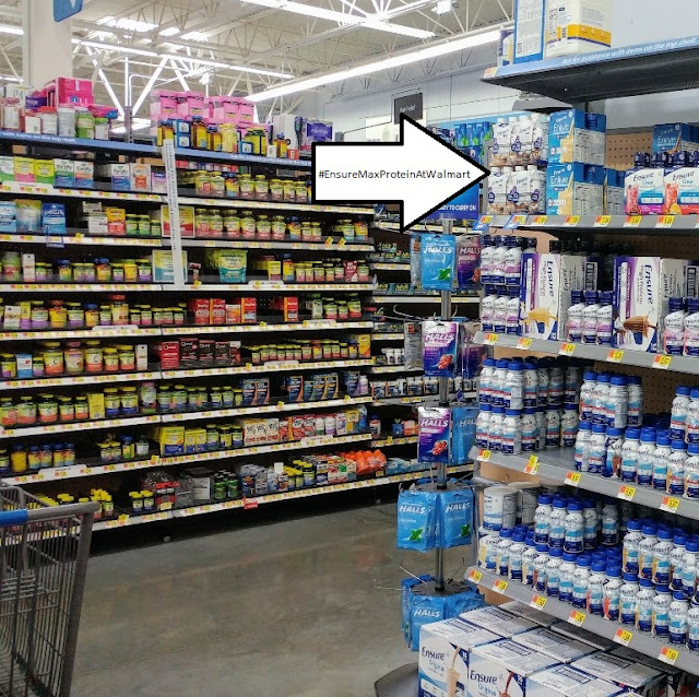 #ad find #EnsureMaxProteinAtWalmart near the vitamins