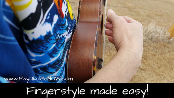 Here are some of the basics of fingerstyle presented for beginners.    This lesson should be mastered before attempting any of my fingerstyle arrangements.
