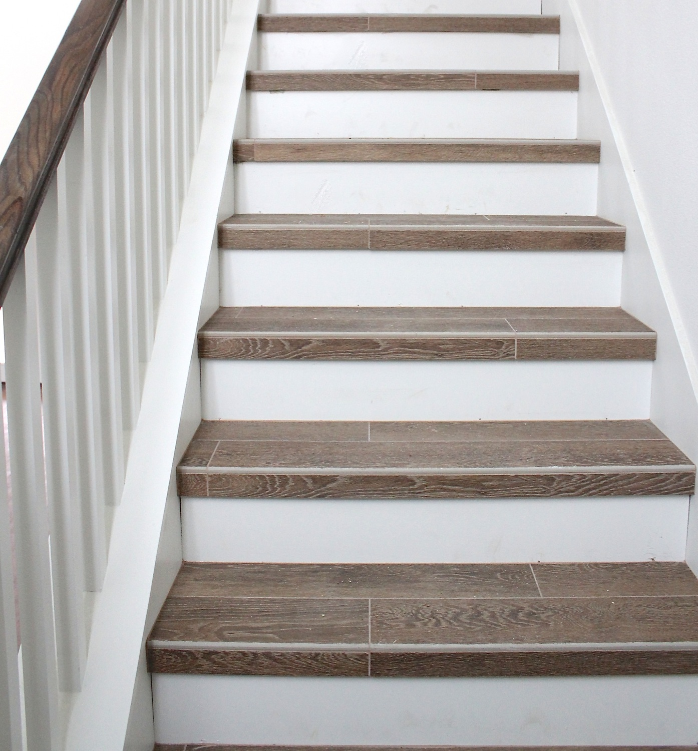 Building A New Home Tile Flooring Countertops And | Wood Look Stair Treads