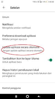 update aplikasi secara otomatis non aktif