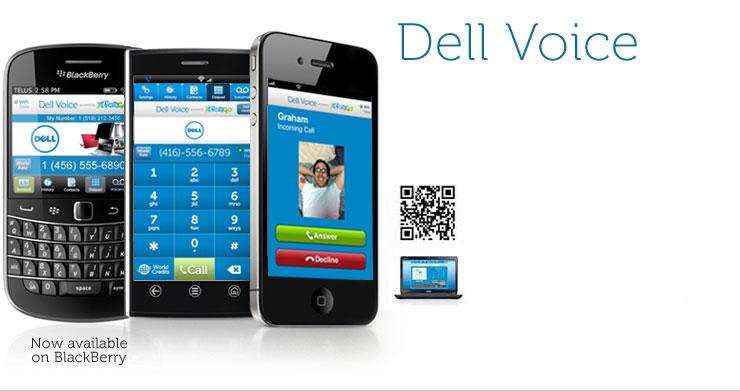 Dell Voice-Fongo Blackberry VoIP app