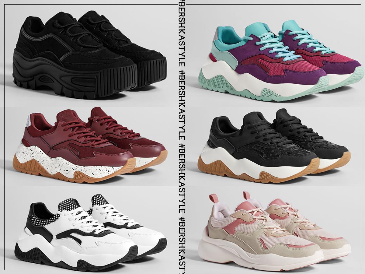 chunky sneakers da bershka