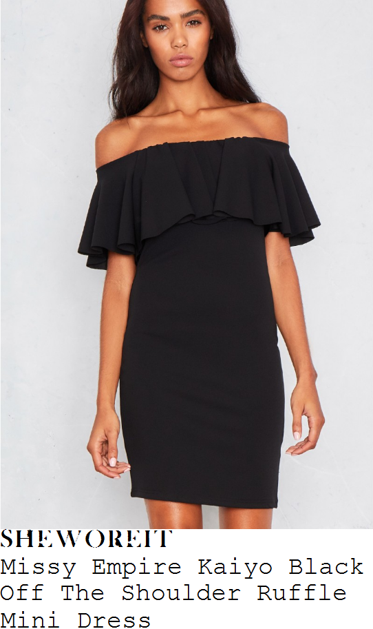 danielle-armstrong-missy-empire-kaiyo-black-off-the-shoulder-bardot-neckline-ruffle-frill-detail-bodycon-mini-dress