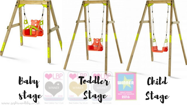 The Plum Wooden Growing Set ranging from baby to toddler to child stage
