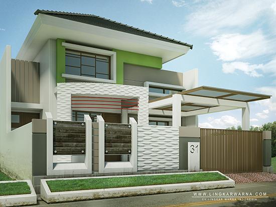 Desain rumah minimalis ukuran 8x18 meter 3 kamar tidur 1 lantai