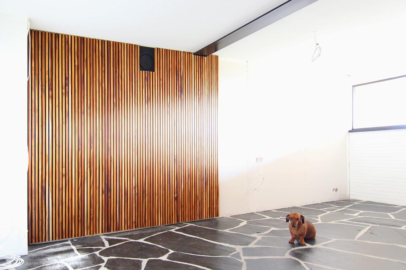 Olive Green Diy Acoustic Slat Wall
