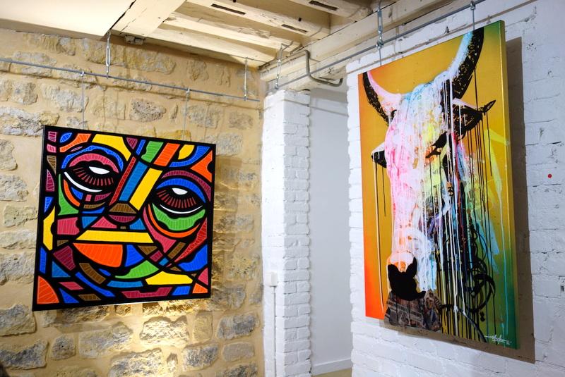 Expo animalement v tre dacruz et marko93 le street art de la rue la toile espace loft du - Expo street art paris ...