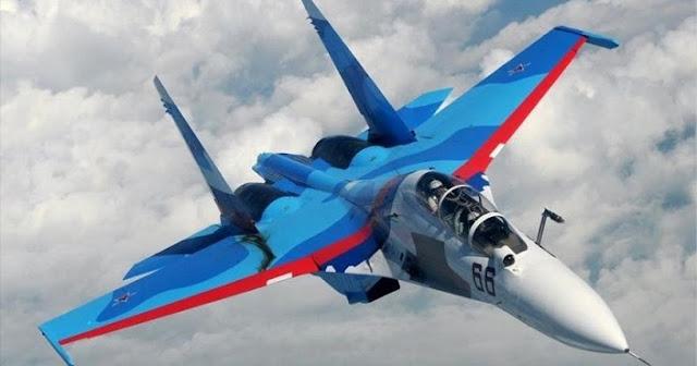 Alerta aérea en España por la presencia de un caza ruso Sujoi-35