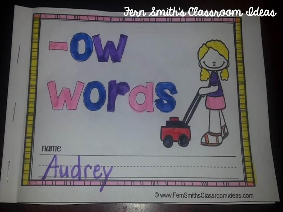 Fern Smith's Printable Phonics Mini-Books for the -ow Family