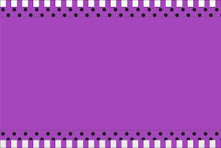 Para hacer invitaciones, tarjetas, marcos de fotos o etiquetas, para imprimir gratis de Morado con Lunares Negros