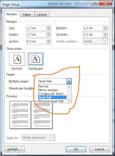 Cara Print Book Fold (Buku Bolak Balik) Arab Pada MS Word 2007