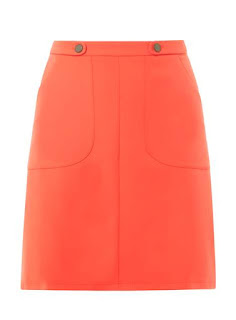 Dorothy Perkins orange skirt