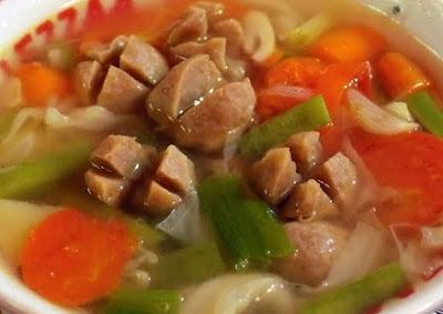 Sup Sosis Bakso Rumahan Enak dan Praktis