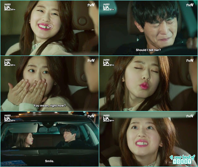 ra won thought hwang gi asking for a kiss but actually there was something stucked in ra won teeth lolx - My Shy Boss kiss korean drama