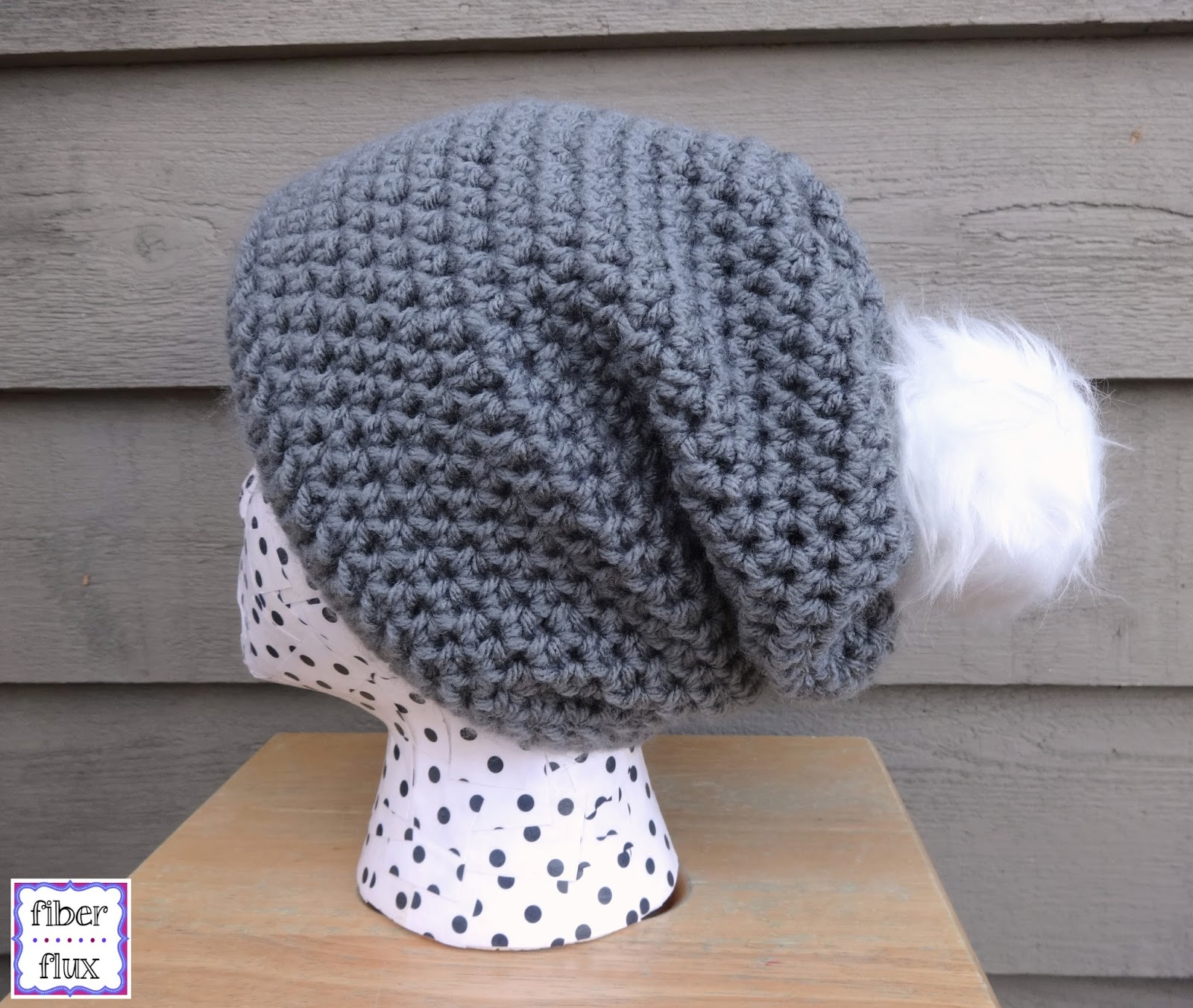 4dbc89fd7f9 Fiber Flux  Free Crochet Pattern...Cottontail Slouch!