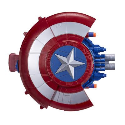 TOYS : JUGUETES - NERF  Marvel Capitan America 3 Civil War  Escudo Ataque Sorpresa | lanza misiles  Película 2016 | Hasbro B5781 | A partir de 6 años Comprar en Amazon España