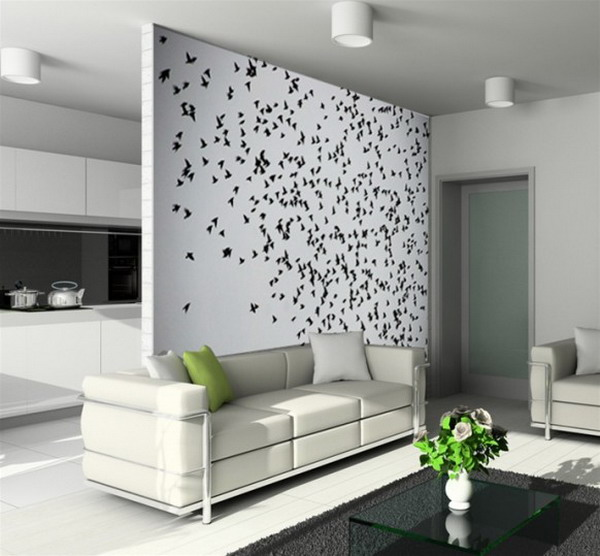 Decorating A Living Room Wall: House Of Furniture: Latest Living Room Wall Decorating Ideas