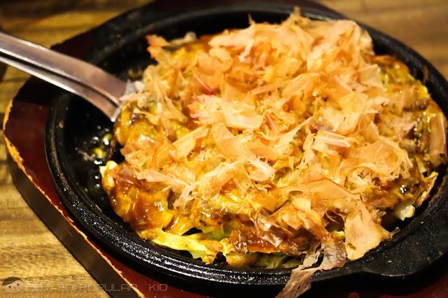 Watami's Japanese Okonomiyaki - sweet and savory delight!