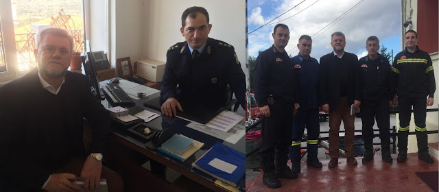 Συναντήσεις του υποψήφιου Δήμαρχου Σουλίου Γιάννη Καραγιάννη σε Αστυνομικό Τμήμα και Πυροσβεστικό Κλιμάκιο Παραμυθιάς