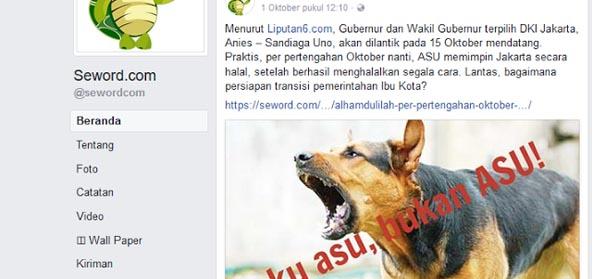 """Pemuda Muhammadiyah akan Laporkan Seword Soal """"ASU"""", Chico Hakim: Asu Lebih Baik dari Manusia"""