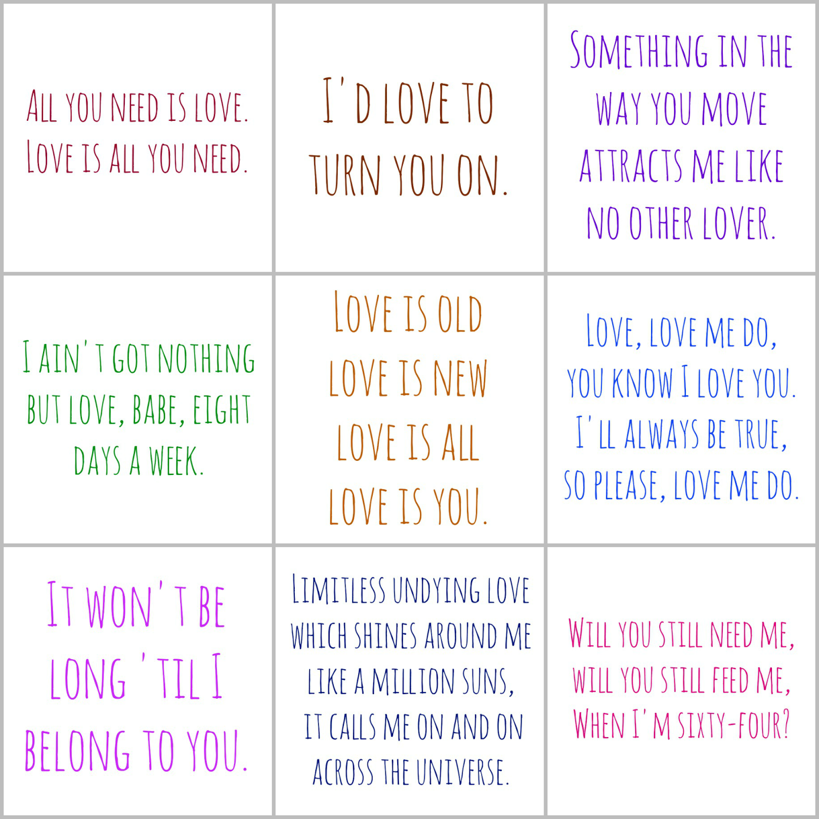 9 Romantic BEATLES Printable Lunch Bag Notes for Your Husband . Free printable lunch notes for men. Romantic lunch notes. Romantic Beatles lyrics. lunch box notes for my husband lunchbox love notes for spouse cute lunch box notes for husband lunch box notes for adults free printable lunch notes for husband printable lunchbox notes for husband cute notes to leave your spouse in the morning funny notes to leave in husbands lunch Bohemian blog Bohemian mom blog Bohemian mama blog bohemian mama blog Hippie mom blog Offbeat mom blog offbeat home offbeat living Offbeat mama blogs like Offbeat mama