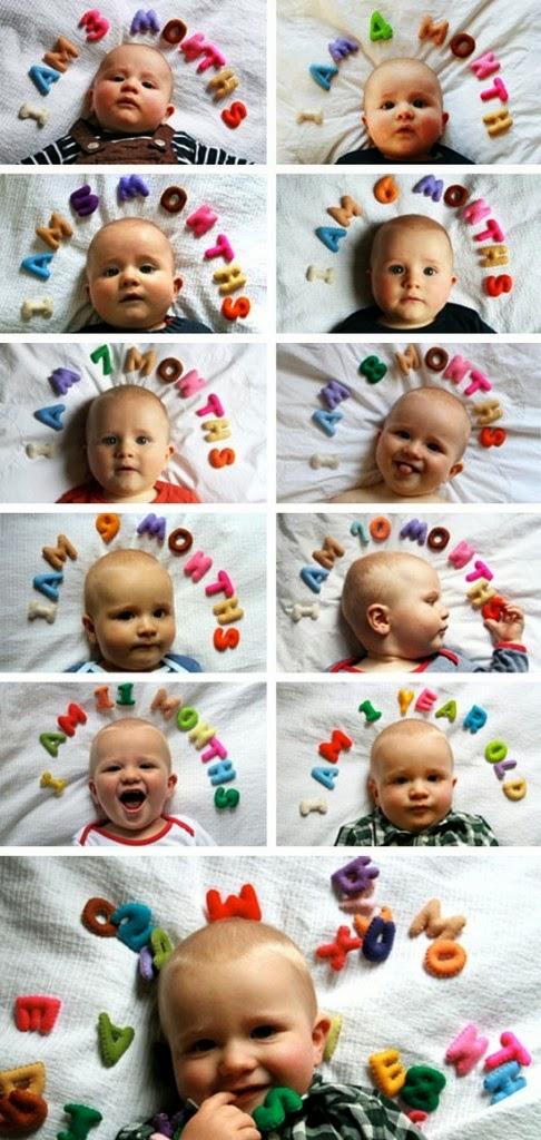 Ideas para fotografiar a tu bebé mes a mes...