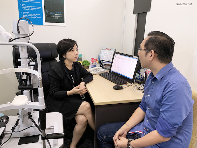 With Dr. Vienne Tai Pih Yih, Consultant Ophthalmologist, Cataract & Refractive Surgeon of VISTA Eye Specialist