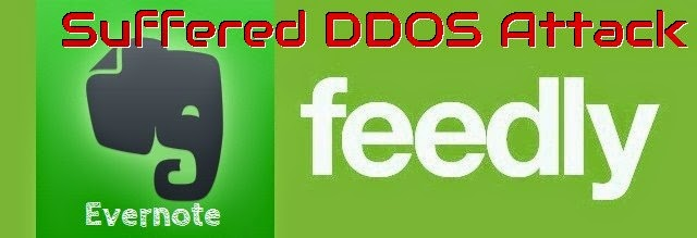 Feedly, Evernote, DDOS attack, Ransom, cyber attacks