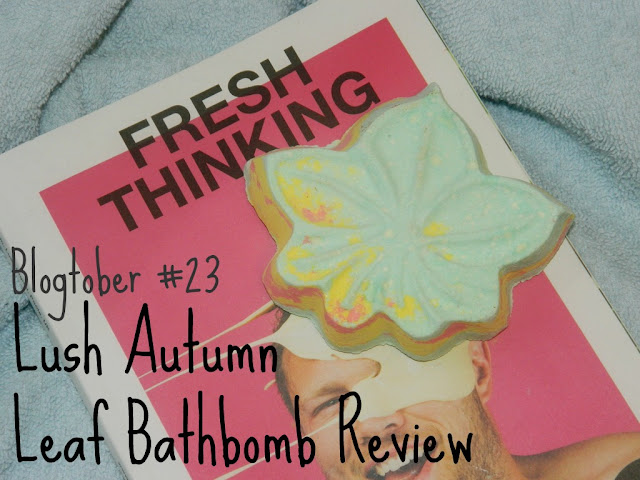 Lush Autumn Leaf Bath Bomb Review