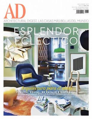 Revista AD Architectural Digest México Noviembre 2017