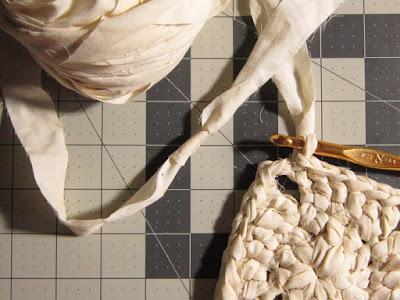 fabric scrap yarn, recycled fabric yarn, sheet yarn, how to