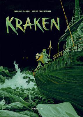 """couverture de """"KRAKEN"""" de Pagani et Cannucciari chez Soleil"""
