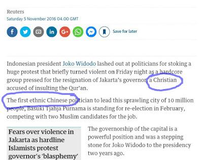 Australia Tak ada Kapoknya Menjadi Provokator !! Media Australia Sebut 4/11 Karena Ahok Beragama Kristen dan Etnis Cina - Commando