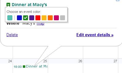 Google Calendar Adds Event Colors on calendar phone, calendar ipad, calendar iphone, calendar app,