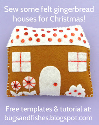 felt gingerbread houses tutorial