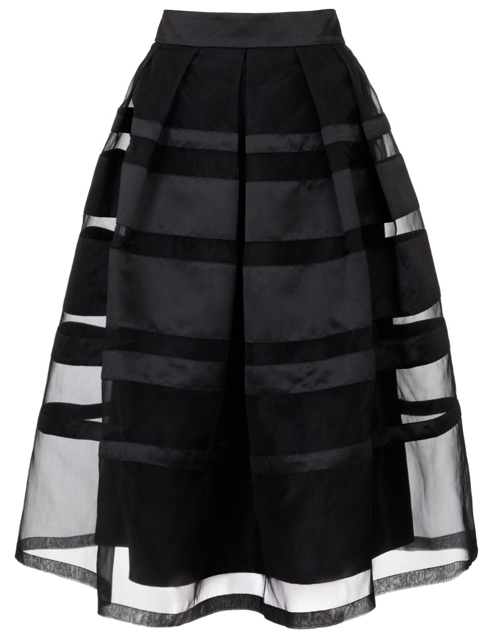 Temperley Black Satin Ribbon Skirt on Avenue 32
