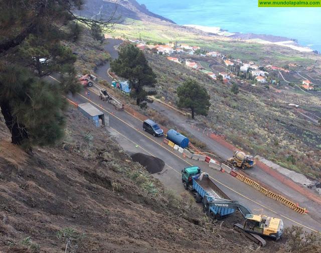 Las obras del cruce del Toscón, en Fuencaliente, obligarán al desvío del tráfico a la costa del municipio por Las Caletas