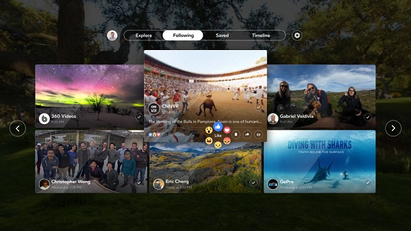 Facebook 360 app for Samsung Gear VR launched
