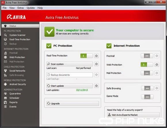 Avira Free Antivirus 2014 v14.0.3.350 - Top 1 diệt virut miễn phí