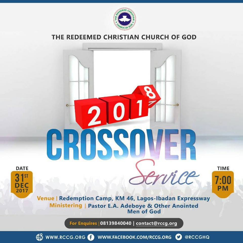 Watch Live Streaming RCCG Crossover Service 2017 – 2018