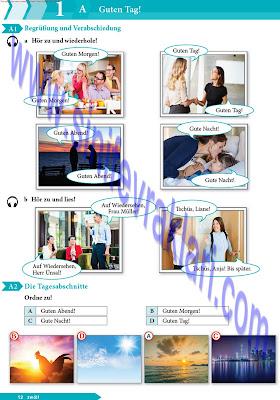 9. Sınıf Almanca A1.1 Ders Kitabı Cevapları Sayfa 12