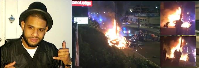 Un dominicano prendido en fuego grave por brutal paliza de policías cuando su carro fue chocado en Nueva Jersey