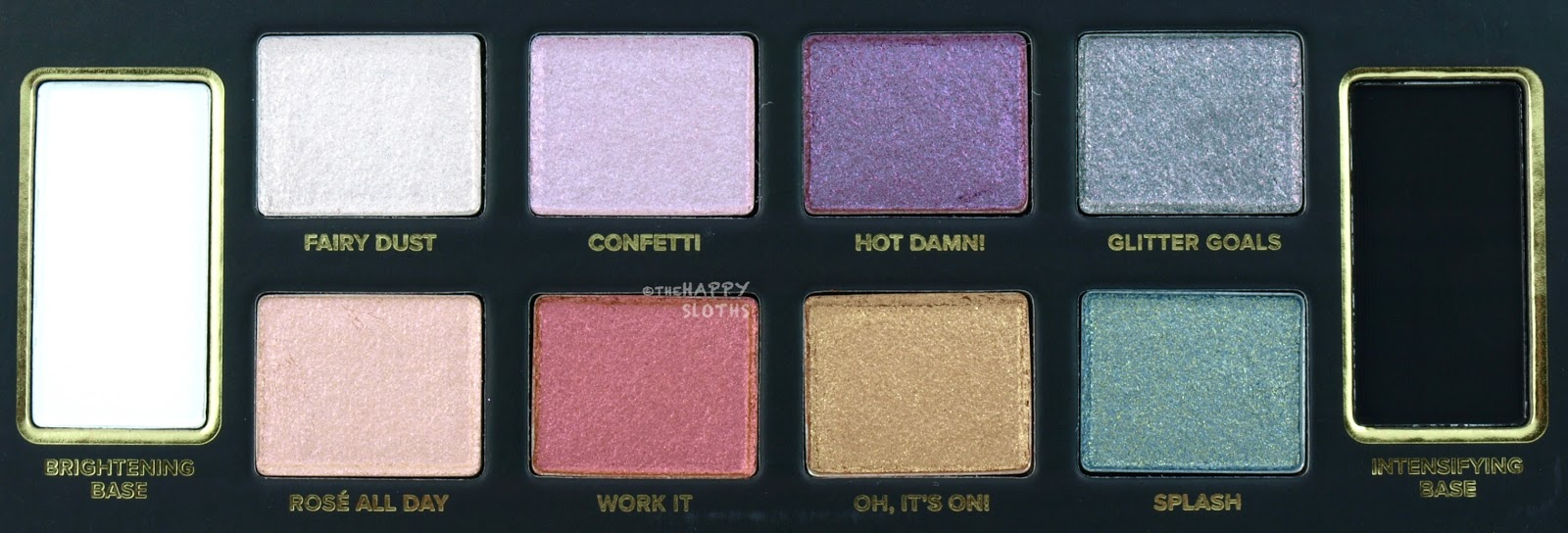 Too Faced Glitter Bomb Eyeshadow Palette: Review and Swatches