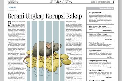Tulisan Deka yang Terbit di Media Indonesia Rabu, 26 September 2018