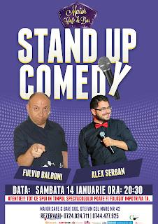 Stand-Up Comedy Sambata 14 Ianuarie Bucuresti Maior Cafe