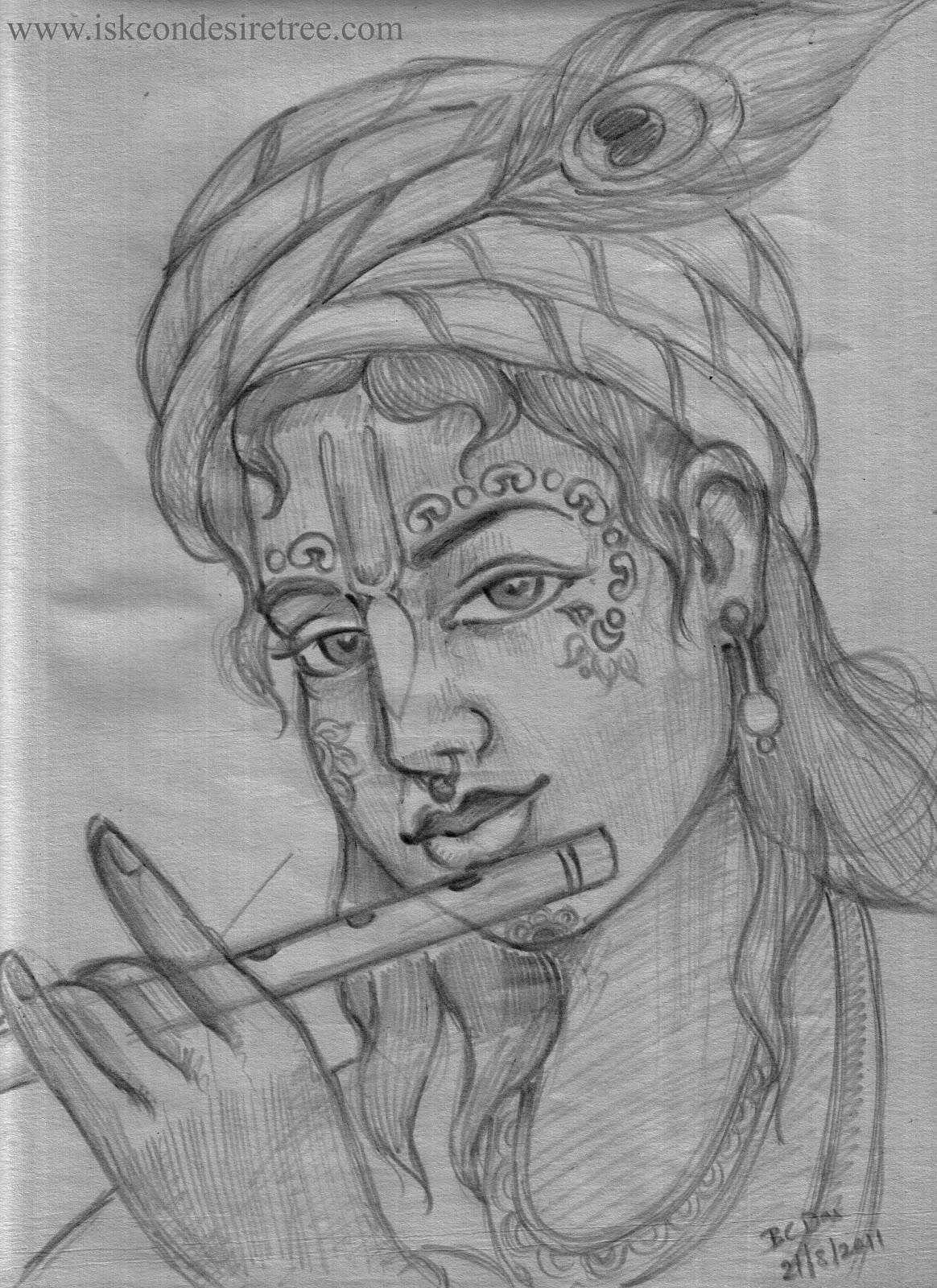 Bhagavat Chintan Das Bhikaji Pencil Sketch